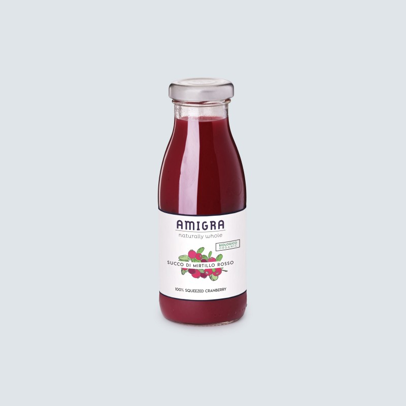 100% Succo di Mirtillo Rosso BIO 250ml