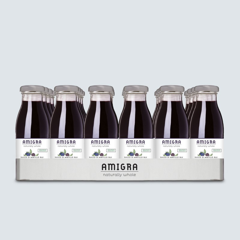 100% Blueberry Organic Juice 250ml - 24pcs