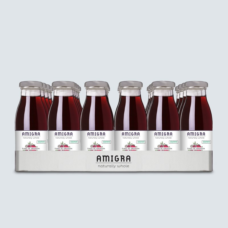 100% Pomegranate Organic Juice 250ml - 24pcs