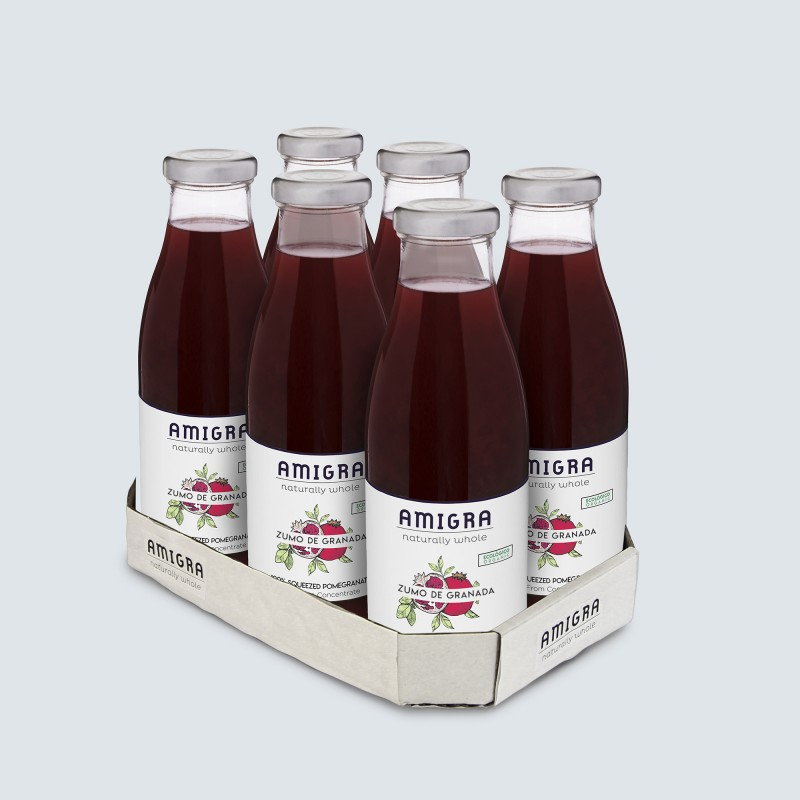 100% Pomegranate Juice Organic 750ml - 6pcs